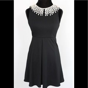 Free People black dress with lace collar